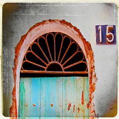 follow your bliss (1crzqbn) Tags: door sunlight color square rust iron shadows 15 textures 7d curve hss followyourbliss 1crzqbn sliderssunday