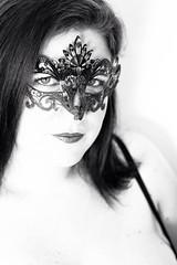 Mask (PhotobyVéro) Tags: portrait bw woman look glamour mask femme nb venise venezia masque regard