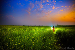 Sunset Girl (AvijitNandy) Tags: