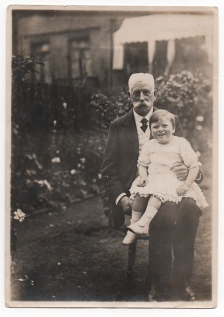 GRANDAD WILLIAM EDWARD BUTT WITH DAD KENNETH EDWARD WALKER
