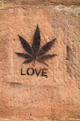 Stencil Hemp (gripspix) Tags: love germany bayern deutschland bavaria stencil franconia graffito franken hanf hemp kulmbach hanfblatt 20130821 schabloierung
