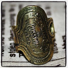 From a vintage key to a classic ring (funkfromjunk) Tags: fashion vintage keys jewellery rings bohemian steampunk uploaded:by=flickrmobile flickriosapp:filter=nofilter