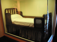 Olympic Bed (R~P~M) Tags: uk greatbritain england museum liverpool boat bed cabin marine ship unitedkingdom maritime nautical olympic titanic stateroom liner merseyside whitestar {vision}:{sunset}=0704 {vision}:{sky}=0597