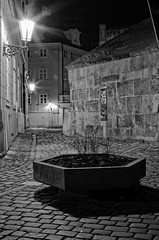 Under the bridge (PetrSk) Tags: street city light bw night lights czech prague pentax praha pentaxart