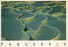 Postcard of Pamukkale (wallygrom) Tags: turkey postcard turkiye pamukkale izmir rockpools chalkcliffs limestonecliffs july1993