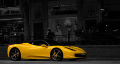Ferrari 458 (Photocutout) Tags: red white london cars sports car yellow cutout spider italia convertible ferrari knightsbridge saudi arabia 458