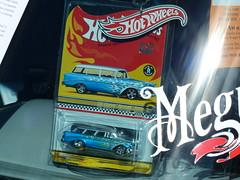 56 Chev Hot Wheels (bballchico) Tags: chevrolet wagon toy flames hotwheels 1956 stationwagon jimcooper handyman grandnationalroadstershow2014