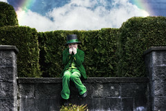 leprechaun (wild_empress) Tags: canada green classic nature composite fairytale dark rainbow experimental unique creative goddess surreal bowtie textures fantasy portraiture tophat ethereal albumcover bookcover cdcover emotional conceptual dreamlike littleboy storybook legend selfportraiture myth timeless stpatricksday fable whimsical storytelling imaginative magazinecover leprechaun mythical greensuit imageusage luckyirish wildempress vanessaskotnitsky