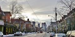 Toronto. (rbrnal) Tags: street city trees sunset urban toronto ontario canada ttc streetcart cans2s