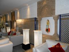 Lobby del hotel La Tour Hassan de Rabat (Colombina F.) Tags: mezquita casablanca marrakesh marruecos fes rabat hassanii minarete