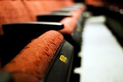 Seats (Deamas Fotografi) Tags: ohio red texture vanishingpoint chair foto theatre bokeh seat horizon performance 7 led oh dayton perfection fotografi humanrace fabrick hrtc uphostery afs3518gdx deamas deamasfotografi deamasfoto