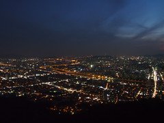 Night-View-Yongmasan-Seoul-South Korea (mikemellinger) Tags: city light mountain beauty river landscape lights evening scenery cityscape south hill capital korea hills valley seoul southkorea viewpoint han viewingplatform hangang northasia yongmasan yongmamountain