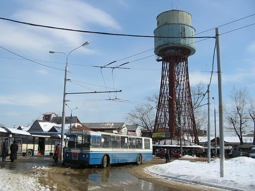Podolsk trolleybus Шуховская водонапорная башня в Подольске ©  trolleway