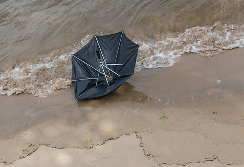 Brolly on the beach