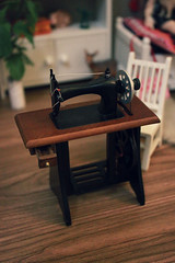 Sewing Machine! (nettle.) Tags: wood ikea yellow floors miniatures lea 112 basic latidoll lati gupr toys bjd dollhoiuse