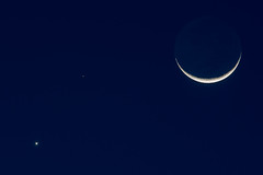 Moon, Mars, Venus (Gentilcore) Tags: mars moon venus nightsky waxing lunarnewyear crescentmoon