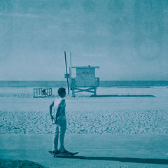ave 26. venice beach, ca. 2014. (eyetwist) Tags: ocean california venice seascape green 120 6x6 mamiya film beach water monochrome bikepath analog mediumformat square la losangeles los xpro crossprocessed sand waves cross pacific angeles teal crossprocess horizon cyan lifeguard icon ishootfilm pacificocean xp2 skate transparency skateboard venicebeach medium format skater analogue mamiya6 process expired processed e6 ilford skateboarder emulsion 75mm chromogenic primes xp1 angeleno ilfordxp1 c41e6 eyetwist 6mf mamiya6mf 26thavenue ave26 epsonv750pro mamiya75mmf35 recentlyprocessedfilm filmexif filmtagger eyetwistkevinballuff crossprocessedc41toe6 printthru