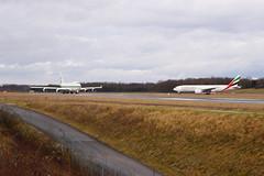 HZ-WBT7 Kingdom B747 + A6-EFK Emirates B777F @EAP (Huygens! aka GSatiFan) Tags: airport holding aircraft kingdom basel emirates ii 400 boeing flughafen 777 llc 747 bsl mlh euroairport mulhouse eap skycargo lsfb lfsb hzwbt7 4j6 f1h lszm a6efk
