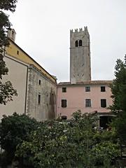Bell tower and houses, Motovun, Croatia (Paul McClure DC) Tags: church architecture croatia historic istria hrvatska istra motovun montona oct2012