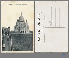 PARIS - La Basilique de Montmartre (bDom) Tags: paris 1900 oldpostcard cartepostale bdom