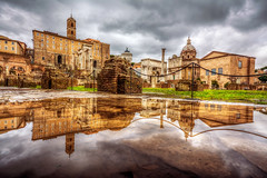Roman Forum,Rome (Nejdet Duzen) Tags: old city travel sky italy panorama rome roma reflection building tourism church