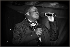 Daniel Bowen-Smith (* RICHARD M (Over 5 million views)) Tags: street music celebrity portraits mono blackwhite singing candid stage performance musicmakers entertainment portraiture soul singer microphone entertainer celebrities performer rb southport earphones merseyside showbiz sefton thedrifters southportchristmaslightsswitchon danielbowensmith thedriftersrebrandedtour2015