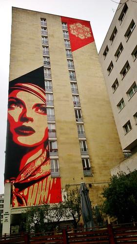 Shepard Fairey / Paris XIIIe - 16 feb 2015