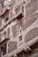 Traditional House, Sana, Yemen (Rod Waddington) Tags: house brick traditional east yemen sanaa middle yemeni