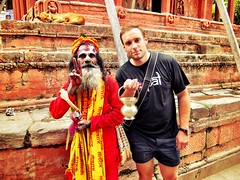 Me and the local Sadu on Durbar square!