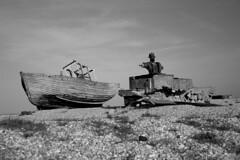 Dungeness (Chris Glover -) Tags: england abandoned boats sussex boat shingle dungeness marsh desolate headland romney foreland cuspate