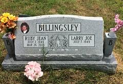 Billingsley Headstone (eloisedv) Tags: oklahoma cemetery headstone gravemarker cartercounty lonegrove