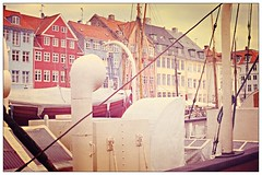 Postcard From Nyhavn (Steve Lundqvist) Tags: city trip travel houses windows urban house port copenhagen landscape denmark nyhavn boat europa europe tour postcard north cities northern towns danmark viaggio nord citta copenaghen danimarca