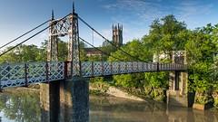 Bedminster Bristol (brwestfc) Tags: bridge blue sky cloud church water river bristol iron crossing bedminster gaolferrybridge