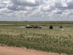 Damage from the May 24, 2016 tornado near Platner, Colorado. (National Weather Service)