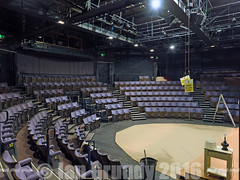 Questors Theatre 3910 (stagedoor) Tags: uk england copyright building london architecture teatro theater theatre olympus norman inside seating branson ealing stalls em1 questors greaterlondon mattocklane littletheatreguild thruststage wshattrellpartners