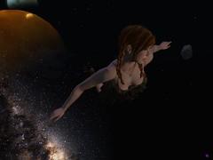 Space Cowgirl 2 (Hunter_Kingsbury) Tags: stars flying orbital meditation cowgirl pigtails outerspace summerdress addams cowboyboots chillie maitreya izzies shinda inspirespacepark argrace hunterkingsbury