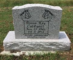 Caldwell Headstone (eloisedv) Tags: oklahoma cemetery headstone gravemarker cartercounty lonegrove