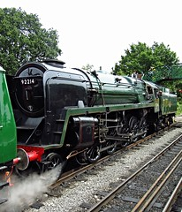 North Weald station, Essex (Deptford Draylons) Tags: england trains railways essex steamlocomotives northweald preservedrailways eppingongarrailway britishrailwaysstandardclass9f