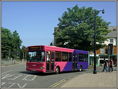 Uno 124 (SN51 TCX) Northampton (Jason 87030) Tags: road pink people bus men college students june campus lights northampton education university flickr purple path northamptonshire sunny 124 uno persons dennis alpha publictransport dart northants uon 2016 ilce blesky tagt sn51tcx sony16000