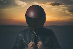 Untitled (ctklink) Tags: california lake zeiss desert sony helmet tyler carl motorcycle palmdale elmirage klink a7ii nikcollection sonnartfe1855