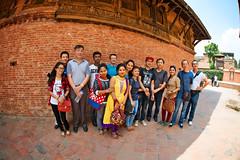 Group photo of nepalese and Chinese in Bhaktapur, Nepal (CamelKW) Tags: nepal chinese nepalese groupphoto bhaktapur 2016 everestpanoram