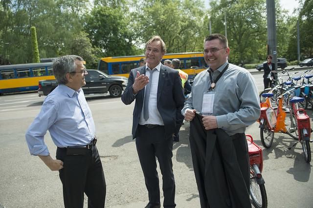 José Viegas with Burkhard Jung at the bike tour