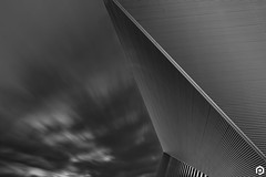 Standing Still in Time II (patviau) Tags: building architecture patviau blackandwhite longexposure sky skyporn clouds movement abstract fineart
