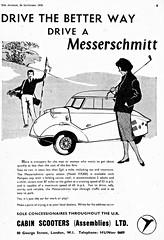 1958 Messerschmitt KR 200 (U.K. Ad) (aldenjewell) Tags: uk ad 200 1958 kr messerschmitt
