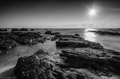 Against the sun (Andres Puiggros) Tags: sea white black blanco atardecer mar rocks y negro rocas negras filtros arenillas