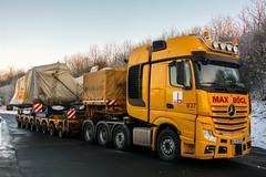 Mercedes Benz Actros 4163 SLT (Actros_4160) Tags: max truck mercedes benz lorry heavy slt lkw haulage actros schwertransport 4163 tieflader schwerlast scheuerle bgl intercombi gigaspace