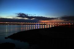 sunset river side (mitchellnesbit-bell) Tags: sunset river way landscape rocks walk bridg