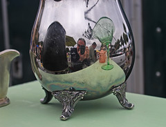 Afternoon at the Antiques Fair (skipmoore) Tags: reflection silver sanrafael pitcher frenchantiquefair