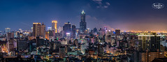 Night landscape panorama of Kaohsiung City,Taiwan (ShengRan) Tags: panorama taiwan kaohsiung d600 nikon 135mm