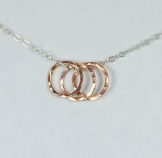 Dainty Hammered Circ (alaridesign) Tags: friends rose by circle gold necklace hammered best ring moms dainty alaridesign